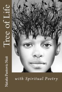 Tree of Life with Spiritual Poetry Book Front Page Cover by Nataša Pantović Nuit